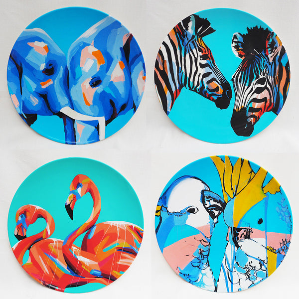 MELAMINE PLATE SET- LOVERS