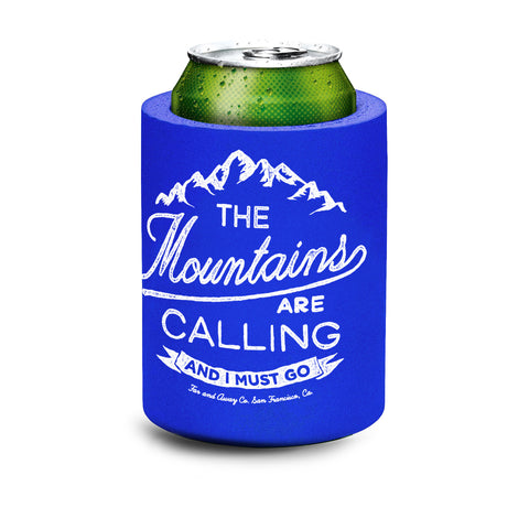 """The Mountains are Calling"" Foam Koozy"