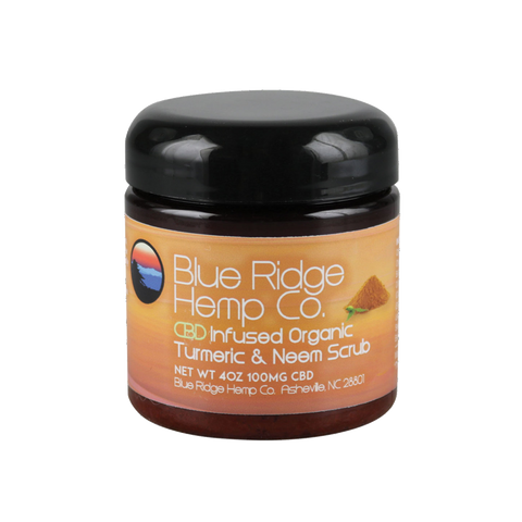 Blue Ridge Hemp Tumeric & Neem Scrub 100mg 4oz