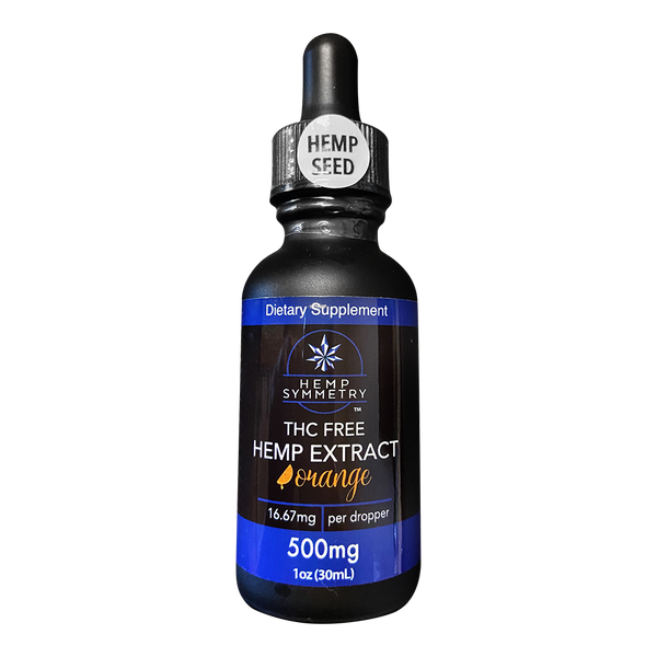 Hemp Symmetry CBD Tincture - THC-Free - Orange