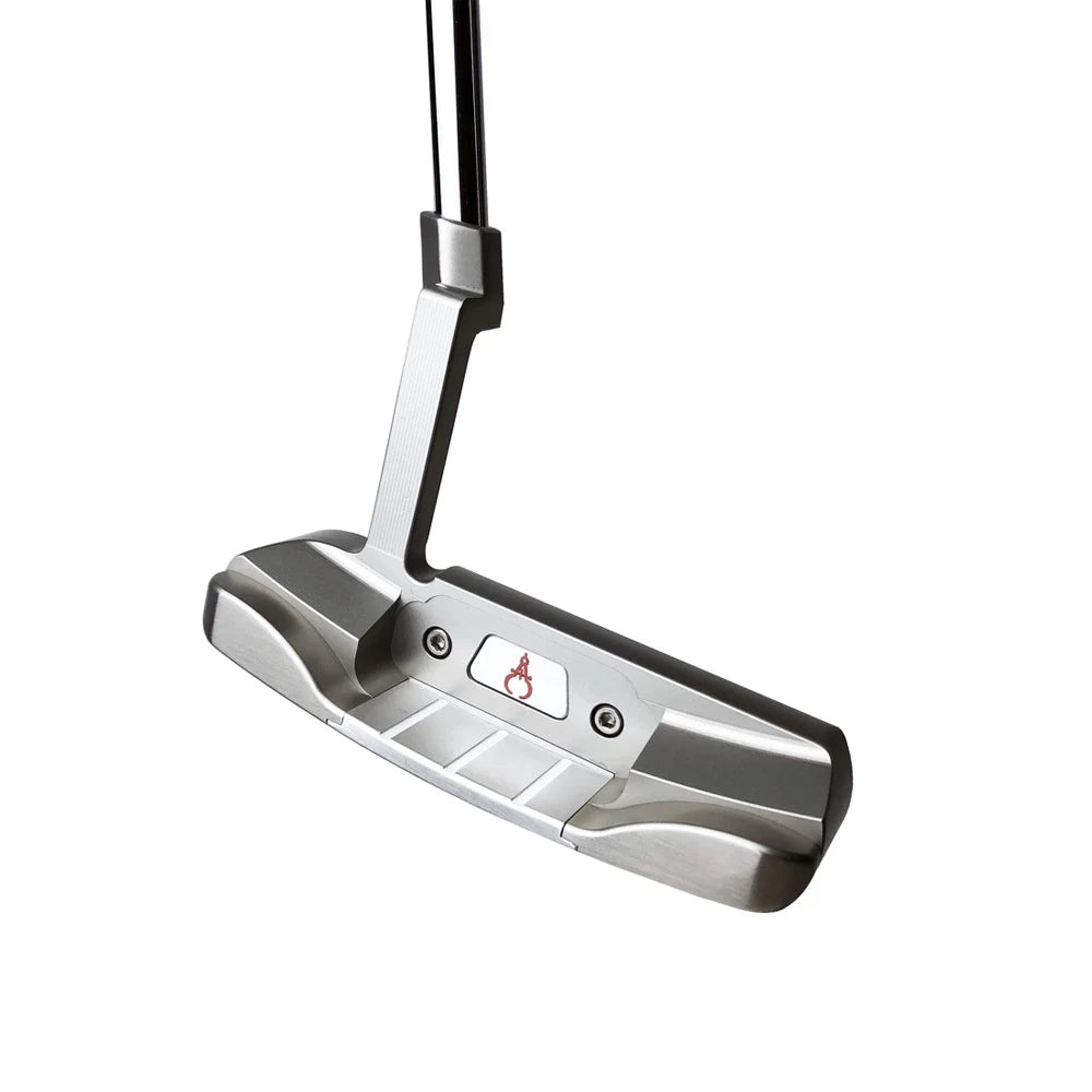 GAUGE DESIGN MIA PROTOTYPE PUTTER SILVER/SILVER (Pink Paint Fill) - UNCUT
