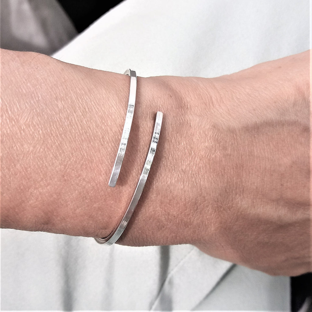 Sterling Silver Open Bangle | channyc.com
