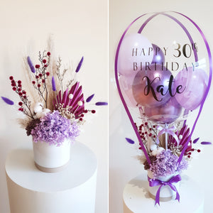 Balloon and Dried Floral Combo