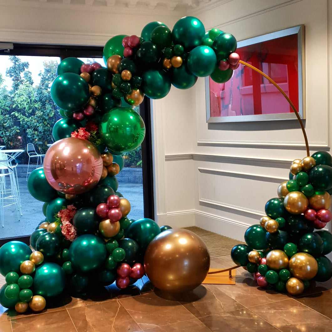 4m Balloon Garland || 2m Gold Hoop Hire