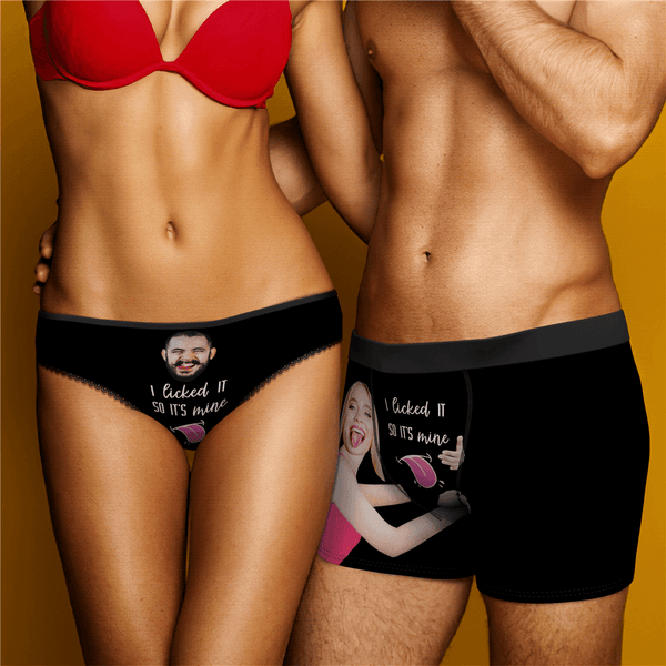 "Couple Underpants Set ""I Licked It So It's Mine"""
