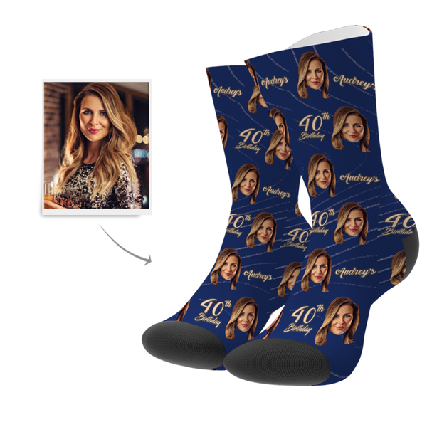 Custom Face Socks Birthday Socks Gifts Custom birthday date