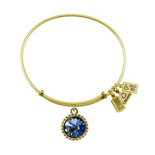 Load image into Gallery viewer, Wind & Fire March Birthstone Charm Bangle