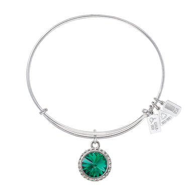 Wind & Fire May Birthstone Charm Bangle
