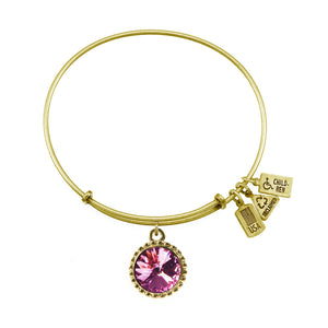Wind & Fire June Birthstone Charm Bangle