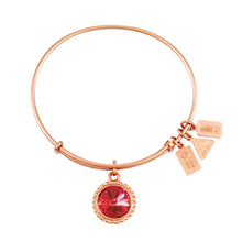 Load image into Gallery viewer, Wind & Fire July Birthstone Charm Bangle