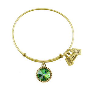 Wind & Fire August Birthstone Charm Bangle