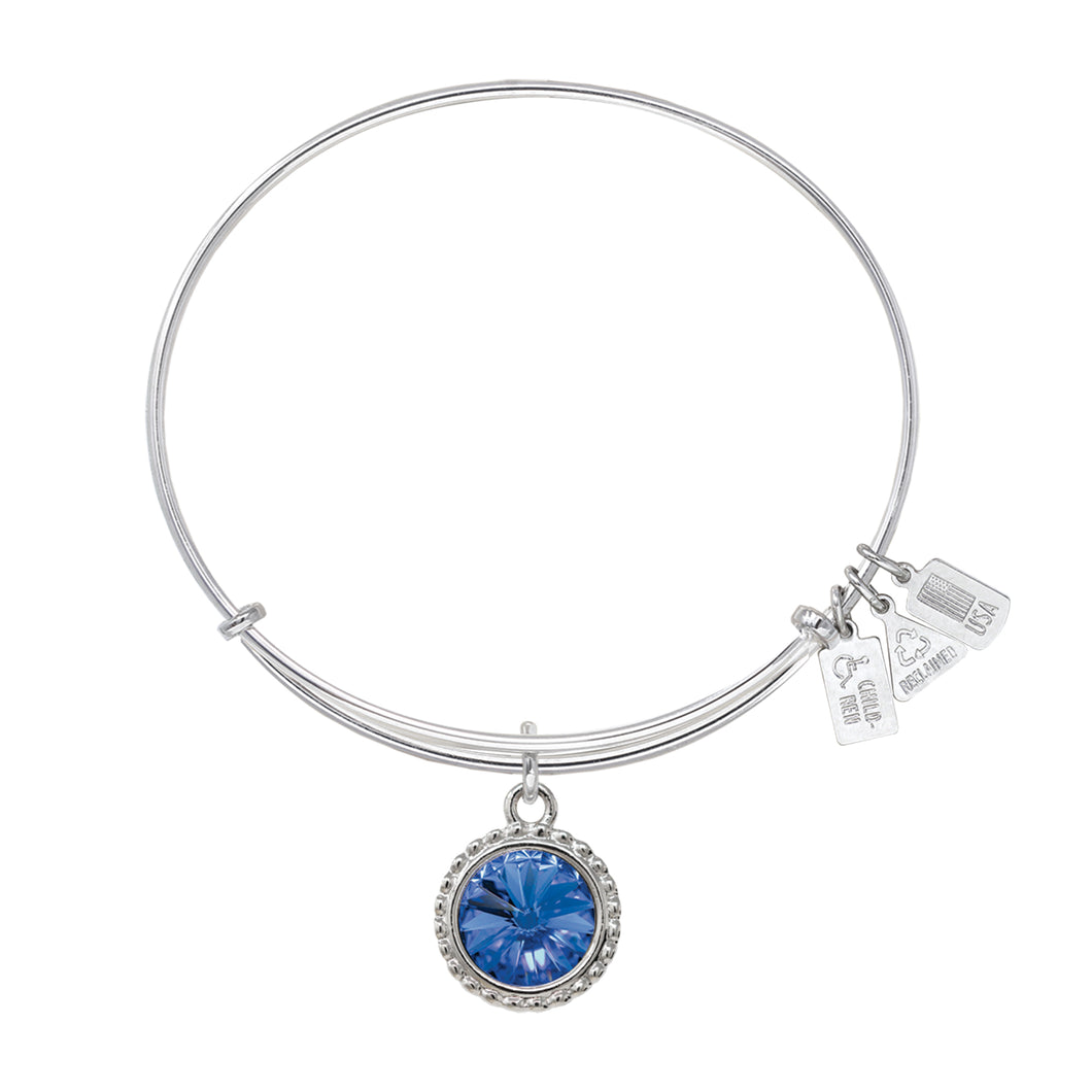 Wind & Fire September Birthstone Charm Bangle