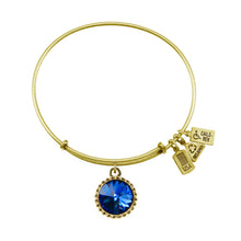 Load image into Gallery viewer, Wind & Fire September Birthstone Charm Bangle