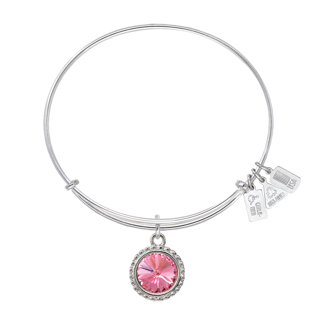 Wind & Fire October Birthstone Charm Bangle