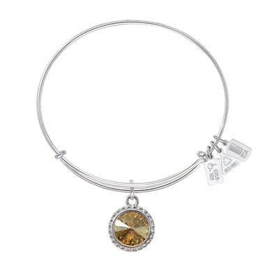 Wind & Fire November Birthstone Charm Bangle