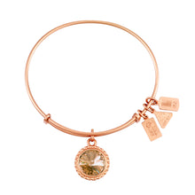 Load image into Gallery viewer, Wind & Fire November Birthstone Charm Bangle