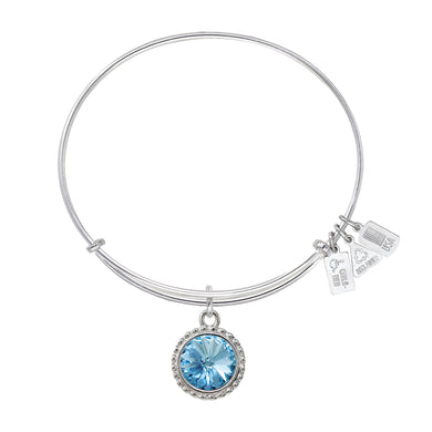 Wind & Fire December Birthstone Charm Bangle