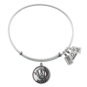 Wind & Fire Taurus (Bull) Charm Bangle
