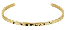 Load image into Gallery viewer, Wind & Fire You're My Anchor Cuff Bangle