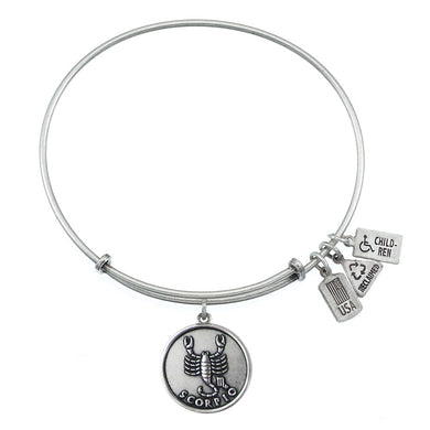 Wind & Fire Scorpio (Scorpion) Charm Bangle