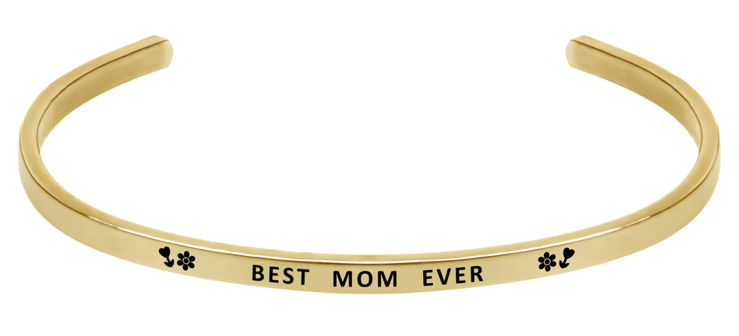 Wind & Fire Best Mom Ever Cuff Bangle