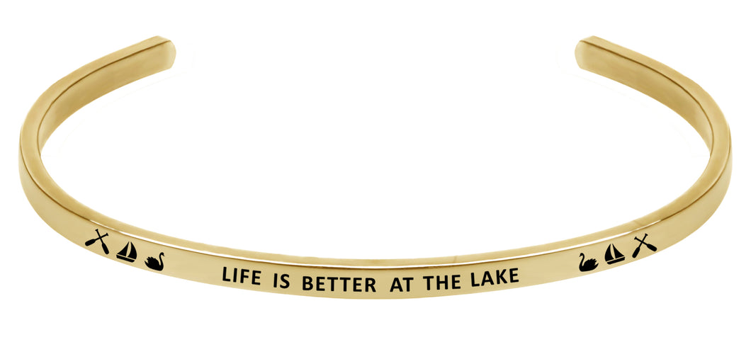 Wind & Fire Life is Better at the Lake Cuff Bangle
