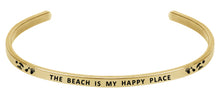Load image into Gallery viewer, Wind & Fire The Beach is My Happy Place Cuff Bangle
