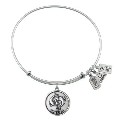 Wind & Fire Pisces (Fish) Charm Bangle