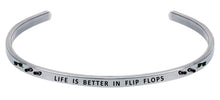 Load image into Gallery viewer, Wind & Fire Life is Better in Flip Flops Cuff Bangle
