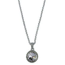 Load image into Gallery viewer, Wind & Fire April Birthstone Charm Necklace