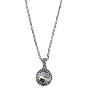 Wind & Fire April Birthstone Charm Necklace