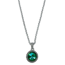 Load image into Gallery viewer, Wind & Fire May Birthstone Charm Necklace