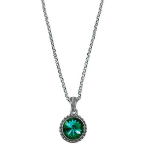 Wind & Fire May Birthstone Charm Necklace