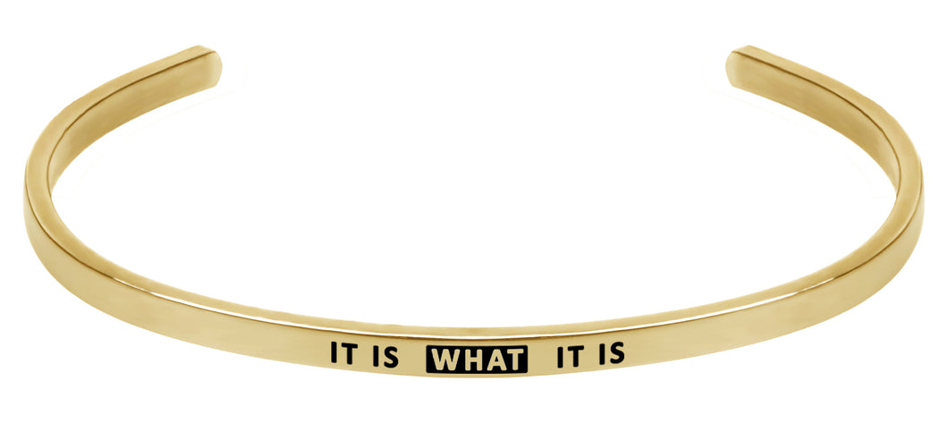 Wind & Fire It Is What It Is Cuff Bangle