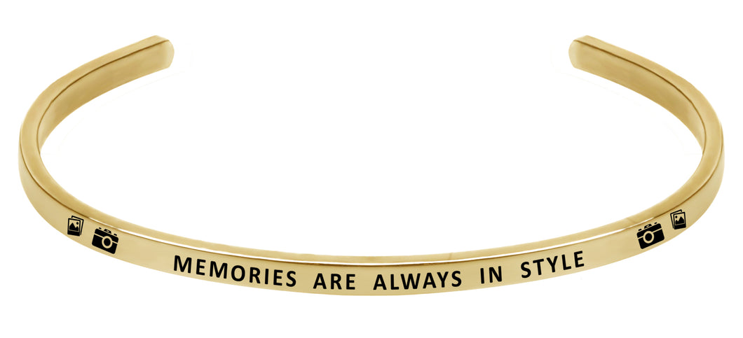 Wind & Fire Memories are Always in Style Cuff Bangle