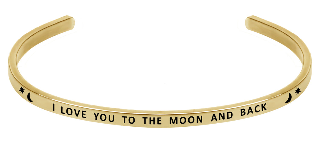 Wind & Fire I Love You to the Moon and Back Cuff Bangle