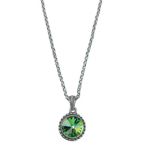 Wind & Fire August Birthstone Charm Necklace