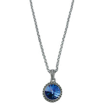 Load image into Gallery viewer, Wind & Fire September Birthstone Charm Necklace