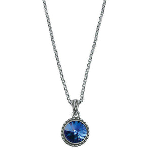 Wind & Fire September Birthstone Charm Necklace