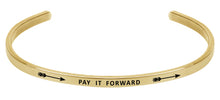 Load image into Gallery viewer, Wind & Fire Pay It Forward Cuff Bangle