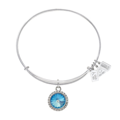 Wind & Fire Earth's Elements GLACIER Charm Bangle