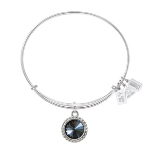 Wind & Fire Earth's Elements JET BLACK DIAMOND Charm Bangle