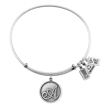 Load image into Gallery viewer, Wind & Fire Love Letter 'A' Charm Bangle