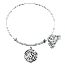 Load image into Gallery viewer, Wind & Fire Love Letter 'B' Charm Bangle