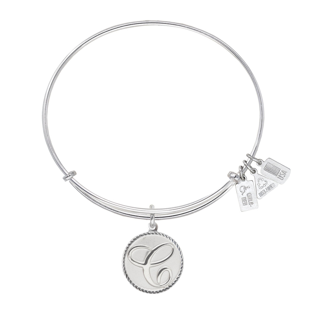 Wind & Fire Love Letter 'C' Charm Bangle