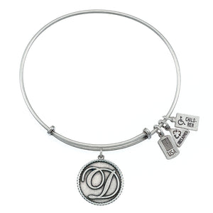 Wind & Fire Love Letter 'D' Charm Bangle