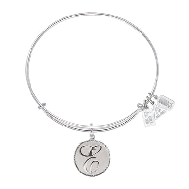 Wind & Fire Love Letter 'E' Charm Bangle