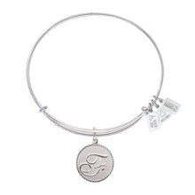 Load image into Gallery viewer, Wind & Fire Love Letter 'F' Charm Bangle