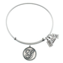 Load image into Gallery viewer, Wind & Fire Love Letter 'G' Charm Bangle