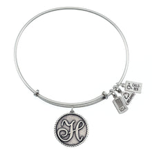Load image into Gallery viewer, Wind & Fire Love Letter 'H' Charm Bangle